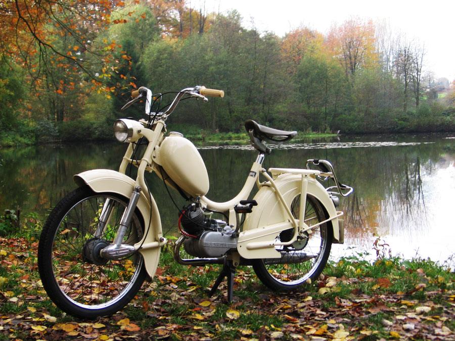 Bild vom vorerst fertiggestellten Moped